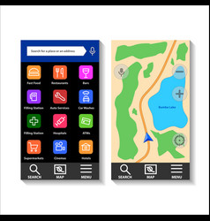 navigator application interface vector image