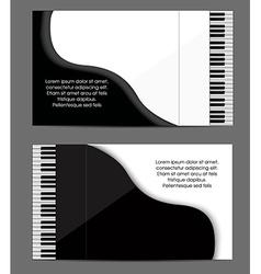 Pioano card design vector image vector image