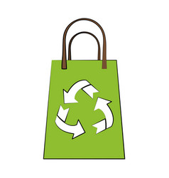 recycle bag isolated vector image