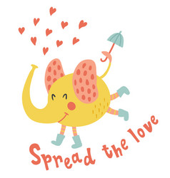 spread the love vector image vector image