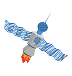 Sputnik isolated satellite white background vector