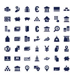 49 bank icons vector