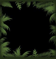 abstract background with palm tree leaves vector image