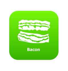 bacon icon green vector image