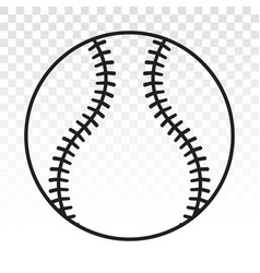 Baseball ball line art icon for sports apps or vector