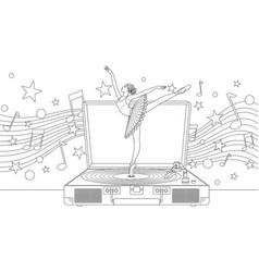 beautiful ballerina dancing vector image