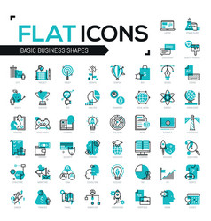 Big bundle modern icons in thin line style vector