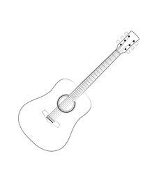 black outlines guitar vector image