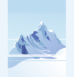 blue mountains with snow against the blue sky vector image