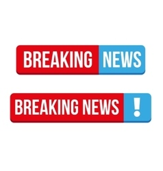 Breaking News button vector