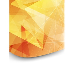 Bright orange folder background template vector