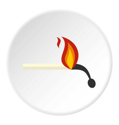 Burning match icon circle vector