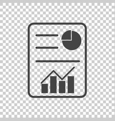 business report flat vector image