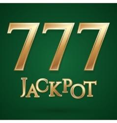 Casino jackpot symbol vector