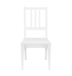 Chair mockup isolated vector