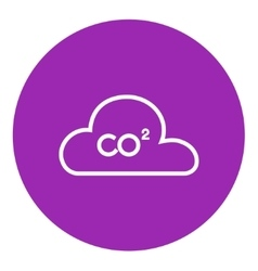 CO2 sign in cloud line icon vector