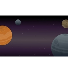 Collection of outer space art vector