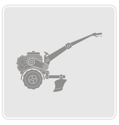 color icon with farm tractor vector image