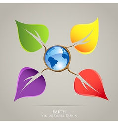colorful creative icon design earth planet vector image