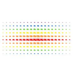 credit card spectral halftone array vector image