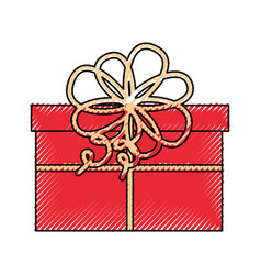 Cute scribble christmas gift vector