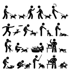 Dog training pictogram a set of pictogram vector