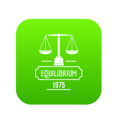 equilibrium icon green vector image