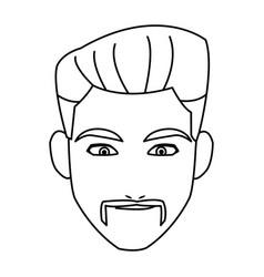 Face man adult business avatar vector