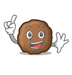 Finger meatball mascot cartoon style vector