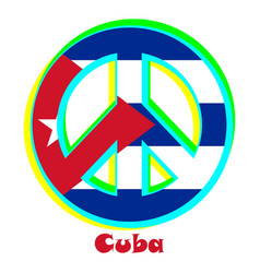 flag of cuba as a sign of pacifism vector image