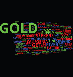 Glitters of gold text background word cloud vector