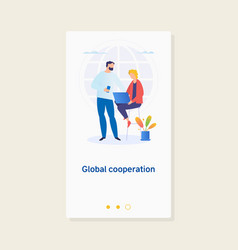 global business global cooperation vector image