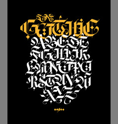 Gothic style alphabet letters and symbols vector