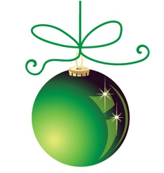 Green Christmas ball decoration vector image