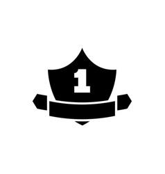 guarantee shield flat icon vector image