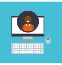 guy afroamerican community social network vector image