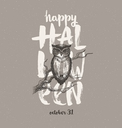 Halloween with owl vector image