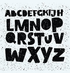 hand drawn comics style font alphabet vector image