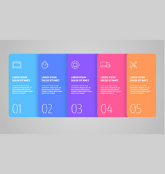 infographics design business concept with vector image