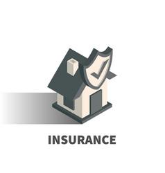 insurance icon symbol vector image