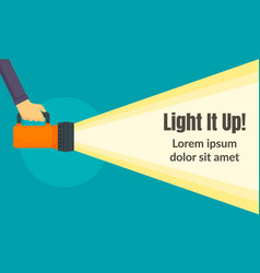 Light it up concept banner flat style vector