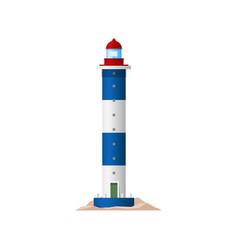 lighthouse sea tower nautical light house beacon vector image