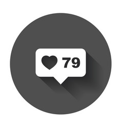 like comment follower icon flat with speech vector image