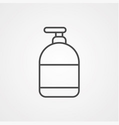 liquid soap icon sign symbol vector image