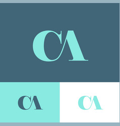 logo c and a monogram compound vector image