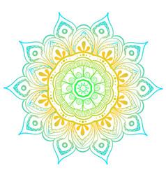 Mandala design element round ornament vector