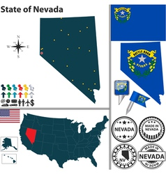 Map of Nevada vector