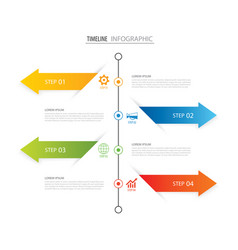 Modern 4 step infographic design template vector