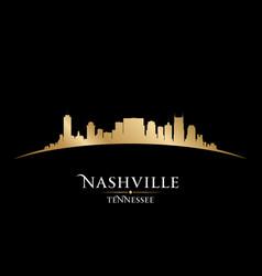 Nashville Tennessee city skyline silhouette vector