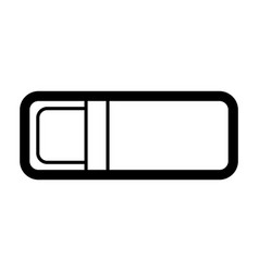 office eraser icon outline style vector image